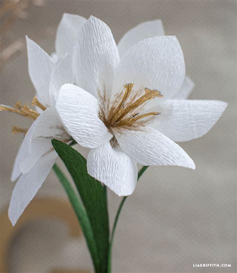 Flower Crepe Paper - diy crepe paper amaryllis paper flowers paper and flower