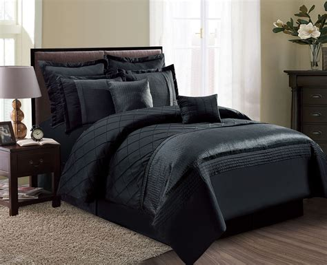Black Comforter Set by 8 Fiona Black Comforter Set Ebay