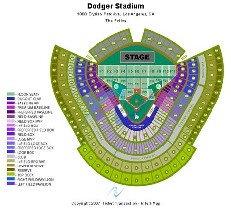 dodger stadium concert seating chart with seat numbers dodger stadium seating chart