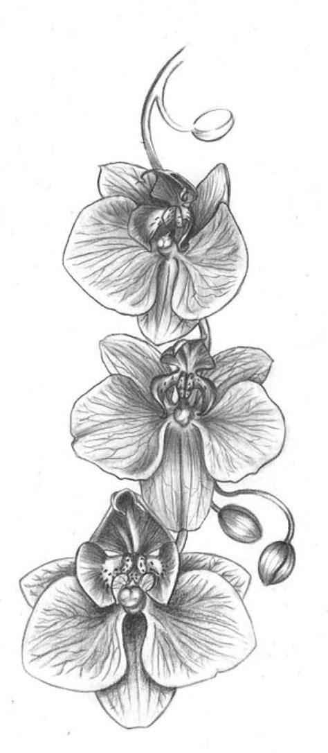 grey flowers tattoos design