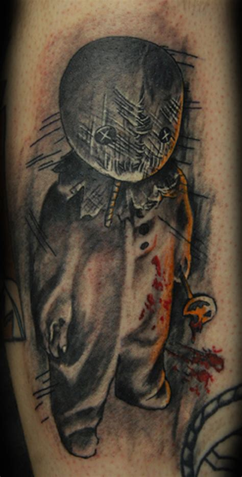tattoo designs r chris trick or treat small horror design tattoos