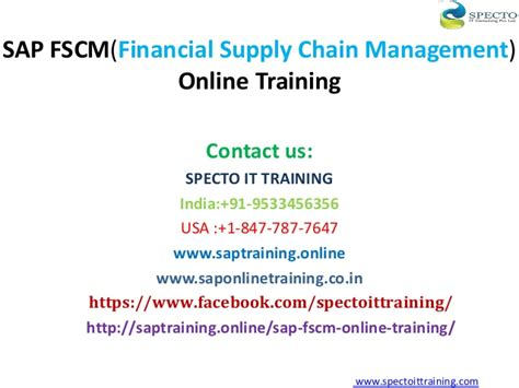 Mba In Supply Chain Management In Usa by Sap Financial Supply Chain Management Fscm