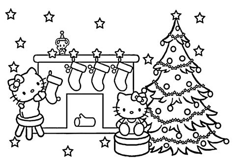 hello kitty merry christmas coloring pages 20 free printable hello kitty coloring pages printable