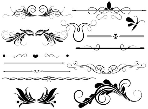 photoshop layout lines 13 photoshop vector line borders images free vector