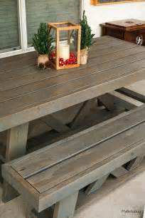 Patio Table Plans Diy Diy Patio Table Shanty 2 Chic Outdoor Table Plans Pallet Patterns Stains