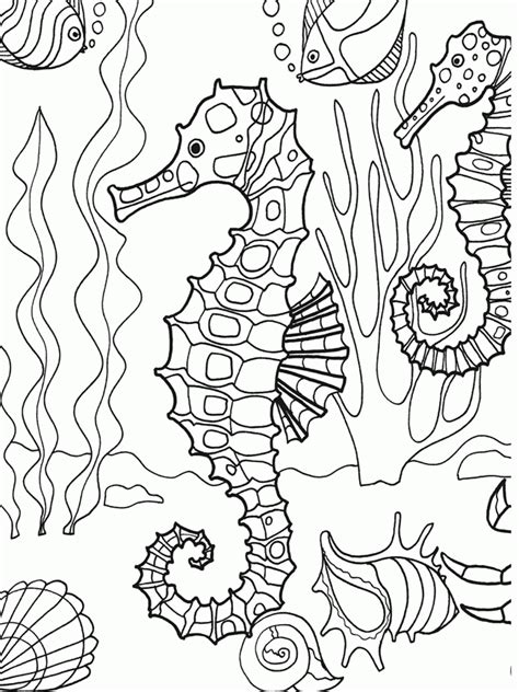 coloring page of under the sea under the sea coloring pages for kids az coloring pages