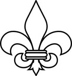 Scout Logo Outline by Fleur De Lis Outline Clip At Clker Vector Clip