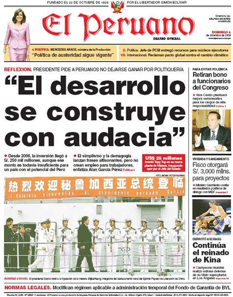 el trome diario peruano post diario el peruano 06 12 2009