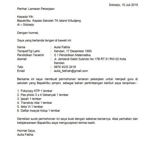 Surat Lamaran Kerja Official Style Suratmenyuratnet