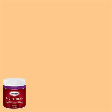 glidden premium 8 oz hdgo54u pale orange eggshell interior paint with primer tester hdgo54up