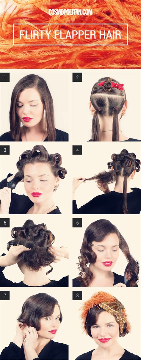 how to create 1920s hairstyles how to make long hair short faux bob hair tutorials
