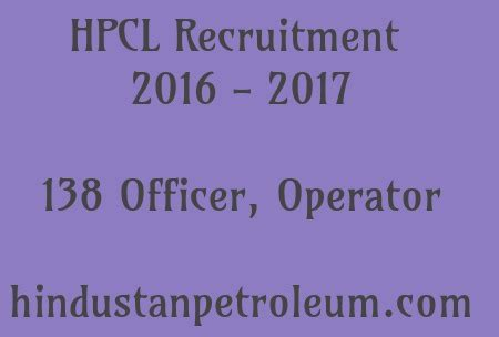 Hpcl Recruitment 2017 For Mba by Hpcl Recruitment 2016 2017 Govt Recruitment