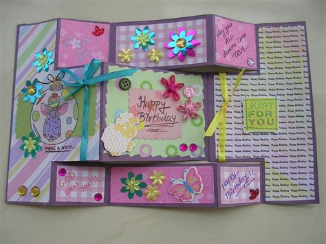 Handmade Birthday Cards Ideas For Friends - vishesh collections handmade by deepti folded birthday