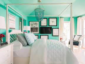 Teal And Grey Bedroom Walls Lively Coastal Beach House Is Hgtv Dream Home 2016