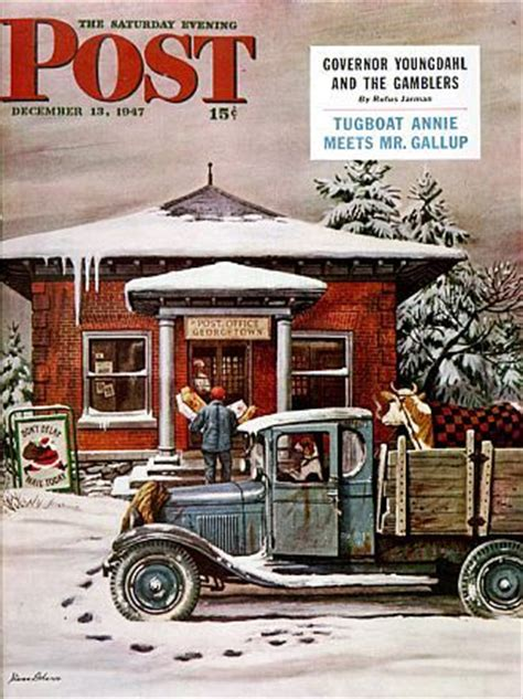 Post Office Saturday by The Saturday Evening Post 169 December 13 1947 Cover