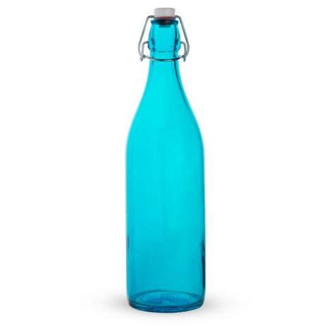 blue swing top bottles bormioli rocco giara sky blue glass swing top bottle 33