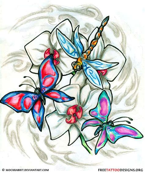 dragonfly and flower tattoo designs 50 dragonfly tattoos