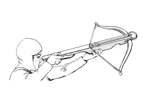 crossbow coloring page coloring page cross bow img 18949