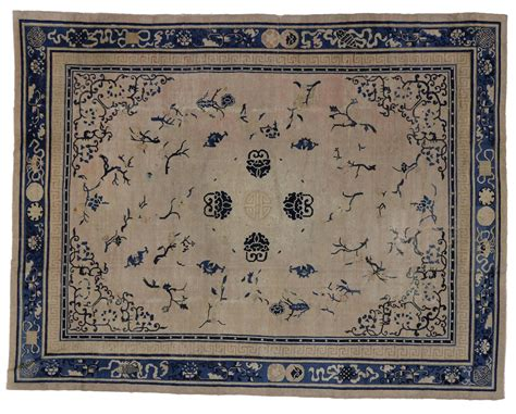 Chinoiserie Rug by Antique Peking Rug With Chinoiserie Style For Sale