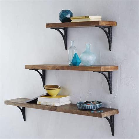 Shelf Bracing by Shelving Brackets Reclaimed Wood Shelves And Shelving On