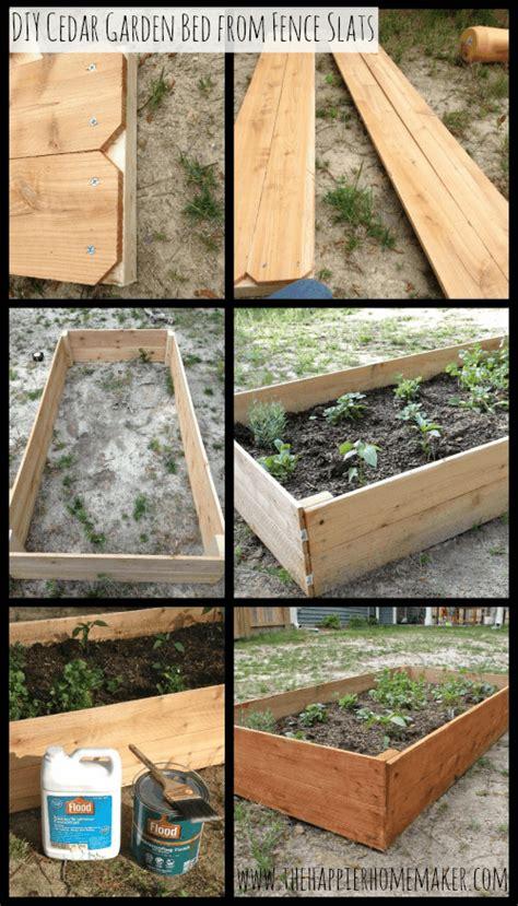 diy cedar raised garden bed  happier homemaker