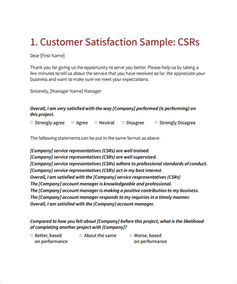 customer satisfaction survey cover letter customer survey cover letter
