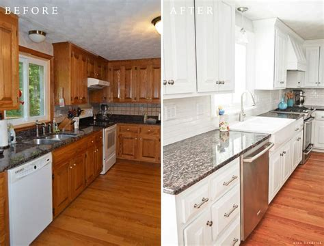 can you paint kitchen cabinets without removing them diy white painted kitchen cabinets reveal