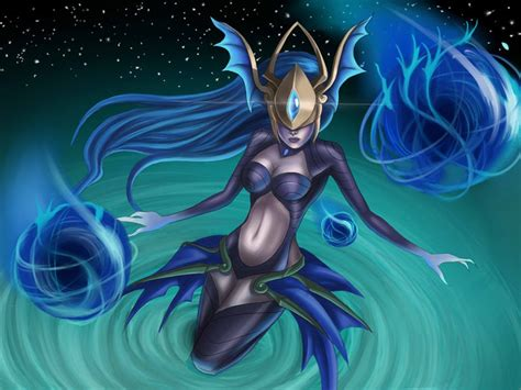 league  legends video game altantean syndra skin desktop