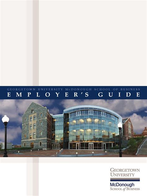 Georgetown Career Services Mba by Mba Employer S Guide By Georgetown Mcdonough