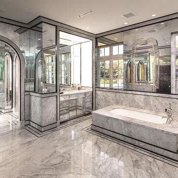 mirrored bathroom walls double sided bathroom vanity design ideas