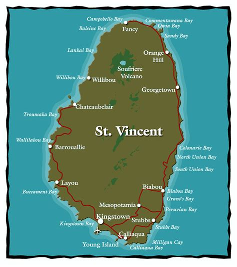 map st vincent and the grenadines maps of st vincent and the grenadines bill tewes