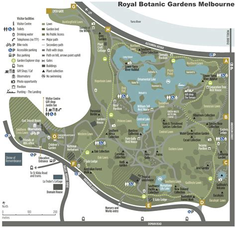 Sydney Botanic Gardens Map Melbourne Royal Botanic Gardens Map