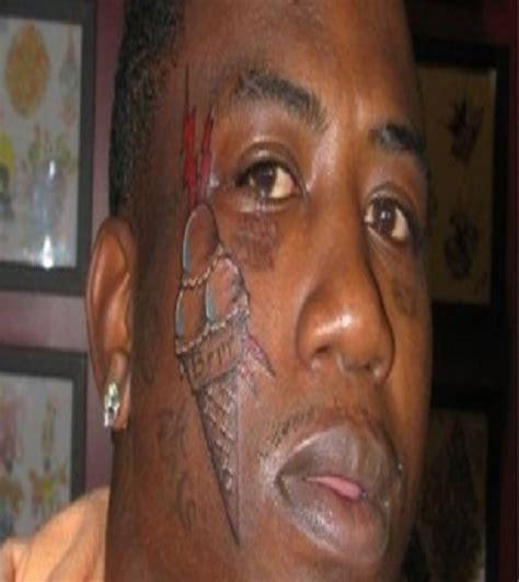 ice cream face tattoo fan ugliest tattoos