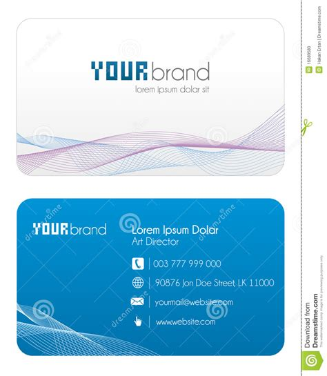 Fema Business Card Template by Business Card Blue Stock Photo Image 16689580