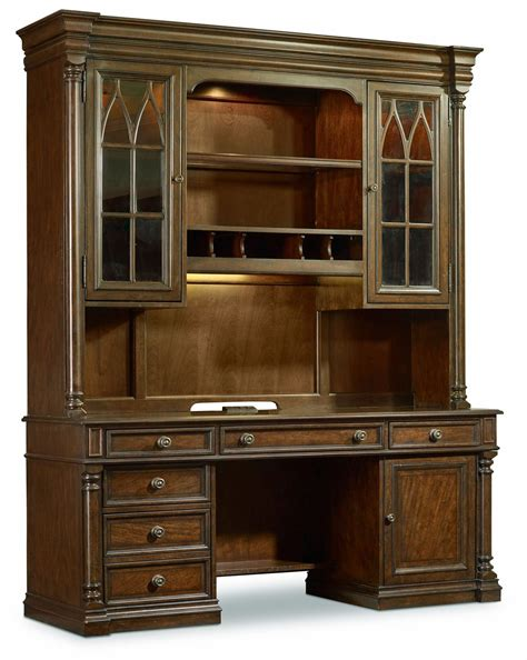 credenza hutch leesburg brown computer credenza with hutch from