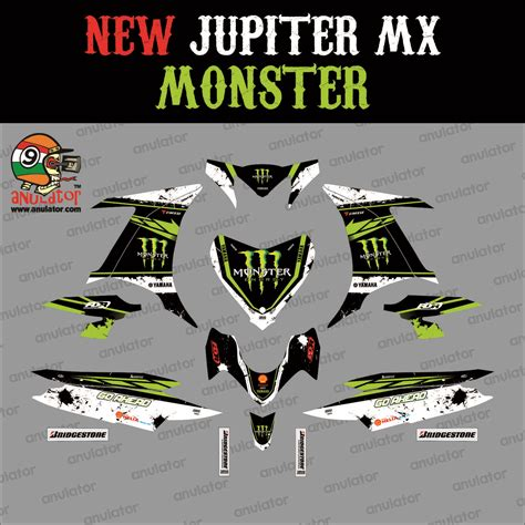Decal Striping Sticker Jupiter Mx New 013 Glossy jual sticker striping motor stiker yamaha new jupiter mx spec a anulator custom