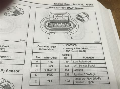 chevy maf sensor wiring diagram wiring diagram with