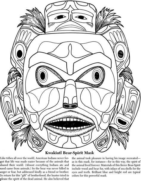 northwest indian coloring pages native american masks on pinterest tlingit alaskan