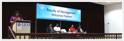 Mba In Chennai For Freshers 2015 by Mba Freshers Induction Events Welcome To Srm