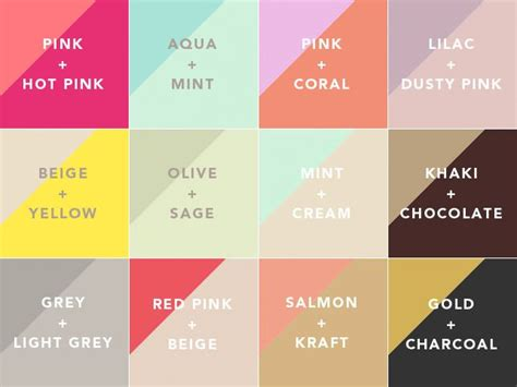 good combination colors 25 best ideas about color combinations on pinterest