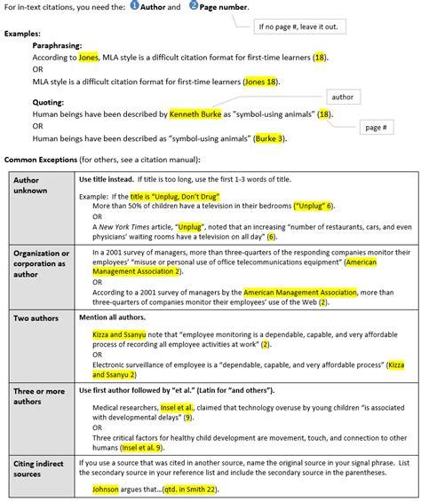 osceola writing center resources basic mla formatting