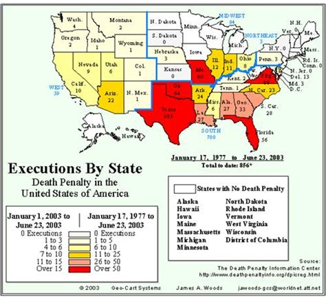 executions in the u s in 2003 death penalty information dcl vice crime and american law