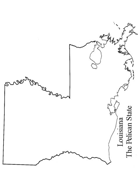 louisiana map coloring page louisiana state outline clipart