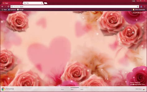 Theme Rose Chrome | red roses background chrome theme chromeposta