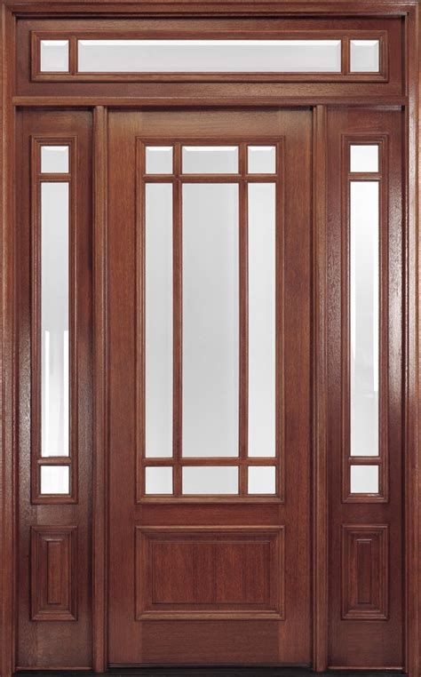Exterior Door With Transom Exterior Doors 9 Lite 8ft Mahogany Front Door