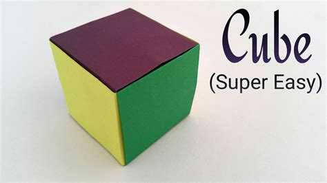 origami tutorial how to make dancing cubes how to make a simple and easiest paper cube on earth