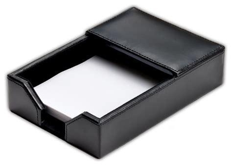 Econo Line Leather Memo Holder Black Modern Desk Black Desk Accessories