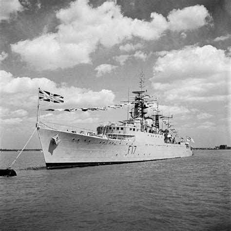 Hms Ulysses hms ulysses 1943 at moorings harwich anonymous