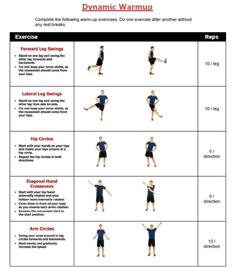 warm up workouts most popular workout programs