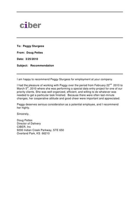 Memo Format Recommendation Recommendation Memo Peggy Sturgess 1